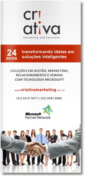 Folder de Apresentação da Criativa Marketing And Solution