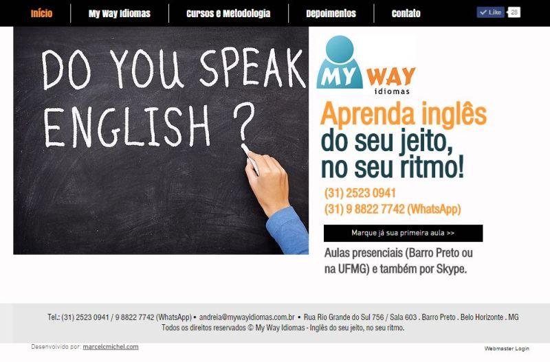 My Way Idiomas - Criação de Web site responsivo